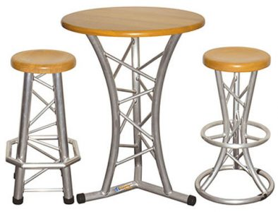 Cosmic Truss Table and Bar Stools