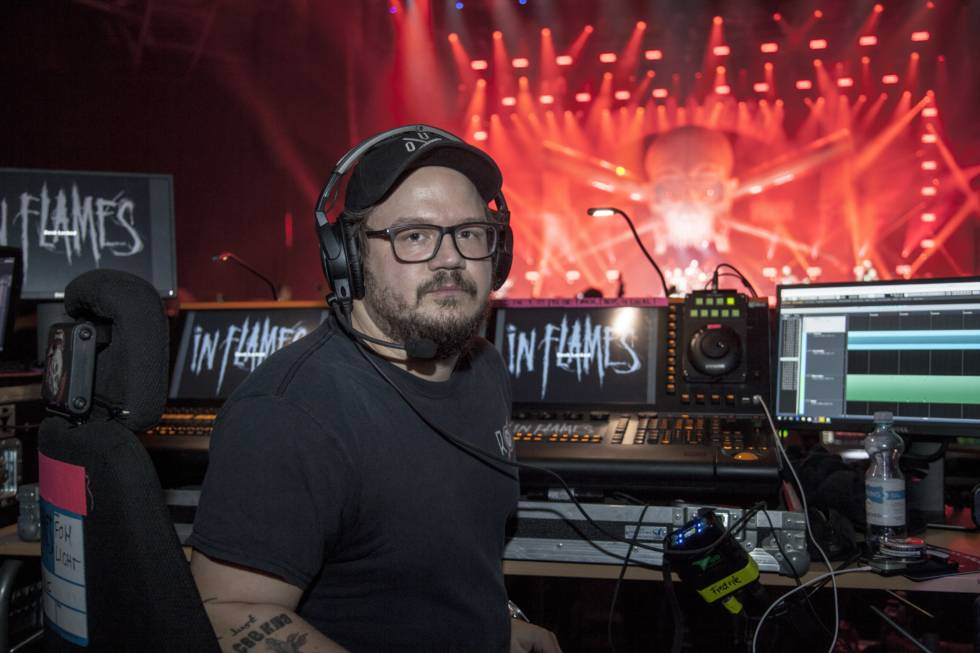 Fredrik Stormby with In Flames